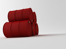 3d oil barrels Stock Photo