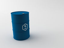 3d oil barrels Stock Photos