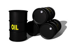 3d oil barrels Royalty Free Stock Image