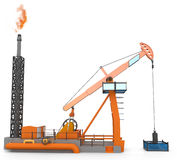 3d Oil Pump jack Royalty Free Stock Image