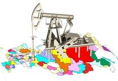 3D Oil pump Stock Photography