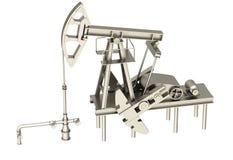 3D Oil pump silhouette Stock Photo