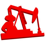 3D Oil Rig Icon Stock Images