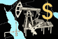 3D oil rig Stock Image