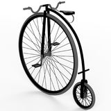 3d old bike. On a white background Royalty Free Stock Photography
