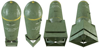 3d old bombs set Stock Photos
