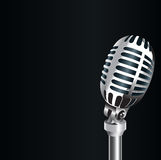 3D Old metal microphone Stock Photo