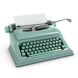 3d Old typewriter Royalty Free Stock Photo