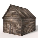3d Old Wood Shed Royalty Free Stock Photography