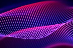 3D ondas acústicas, equalizador audio visual Visualización grande del extracto de los datos libre illustration
