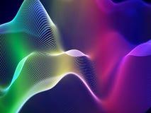 3D ondas acústicas, equalizador audio visual Visualización grande del extracto de los datos ilustración del vector