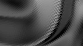 3D d'ondeggiamento poli basso in bianco e nero astratto di superficie come bello fondo Vibrazione geometrica astratta grigia illustrazione vettoriale