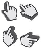 3D One Finger Click Web Icon Vector Illustration Stock Photography