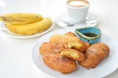 Dłoniaka banan Fotografia Royalty Free