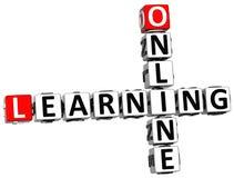 3D Online het Leren Kruiswoordraadsel Stock Afbeeldingen