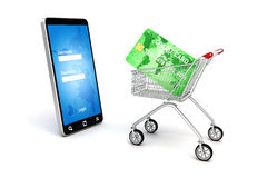 3d online shopping concept Royalty Free Stock Photo
