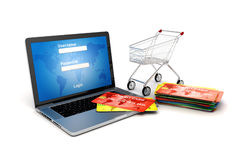 3d online shopping concept Royalty Free Stock Photography