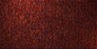 3d onregelmatige grungy mozaïekmuur in donkerrood royalty-vrije illustratie