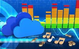 3d opacifie le spectre audio Image stock