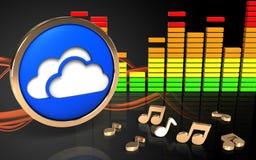3d opacifie le spectre d'audio de symbole Photographie stock