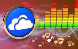 3d opacifie le spectre d'audio de symbole Photographie stock libre de droits