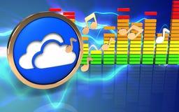 3d opacifie le spectre d'audio de symbole Images stock