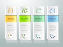 3d 4 opciones infographic abstractas, concepto del negocio infographic Imagen de archivo libre de regalías