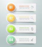 3d 4 opciones infographic abstractas, concepto del negocio infographic Imágenes de archivo libres de regalías