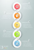 3d 5 opciones infographic abstractas, concepto del negocio infographic Imagen de archivo