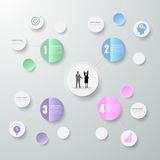 3d 4 opciones infographic abstractas, concepto del negocio infographic Fotografía de archivo libre de regalías