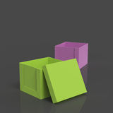 3d open blank box as thinking outside the box Royalty Free Stock Image