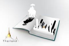 3D open boek met Thailand stock illustratie