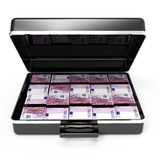 3d Open briefcase full of Euro notes front view Stock Photography