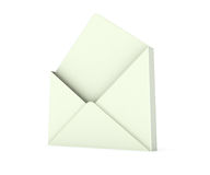 3d open envelope. 3d white open envelope Stock Images