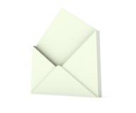 3d open envelope Stock Images