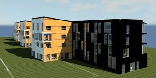 3D opowieści domu model Obraz Stock