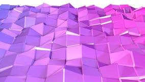 3d oppervlakte als 3d lage poly abstracte geometrische achtergrond met moderne gradiëntkleuren, rood blauw viooltje stock illustratie