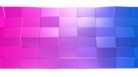 3d oppervlakte als 3d lage poly abstracte geometrische achtergrond met moderne gradiëntkleuren, rood blauw viooltje 49 royalty-vrije illustratie