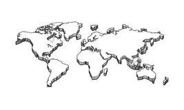 3d opróżniają pustą białą mapę ilustracja wektor