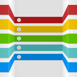 3D option infographic stripes Stock Photography