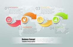 3d 4 options infographic abstraites, concept d'affaires infographic Images libres de droits
