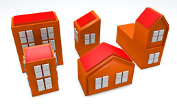3D Orange Buildings Royalty Free Stock Images