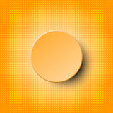 3d orange circle paper  design on white halftone dots pattern with orange background for abstract concept Stock Photography