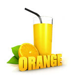 3d orange juice concept Royalty Free Stock Photos