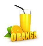 3d orange juice concept Royalty Free Stock Photos