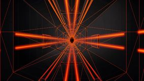 3D Orange Neon Tunnel Loopable Motion Background stock video