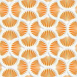 3D orange ray striped pin will grid. Seamless geometric background. Pattern with realistic shadow and cut out of paper effect.3D orange ray striped pin will grid Royalty Free Stock Photography
