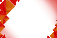 3d orange and read shape, abstrack background Stock Photo