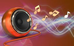 3d orange speaker notes Royalty Free Stock Image