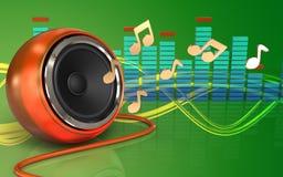 3d orange speaker orange speaker Stock Photography
